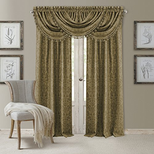 Elrene Home Fashions Blackout Rod Pocket/Back Tab Window Curtain Panel,...