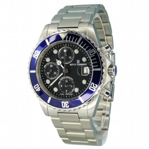 Revue Thommen–Reloj de Pulsera para Hombre XL Diver Cronógrafo Automático Acero Inoxidable 17571.6135