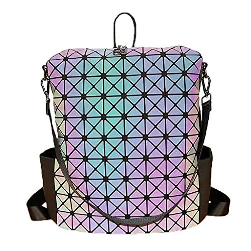 JBTM Adolescentes Mochila Escolar,Moderna Casual Viajes Resistente Al Agua Pareja Tendencia geométrica Luminosa Daypack (Color : Triangle, Size : 33cm)