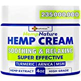 Natural Ingredients: our hemp cream is formulated with hemp oil, arnica montana, turmeric, aloe vera, emu oil, boswellia extract, menthol. Safe & natural formula. Maximum Strength: this product is perfect for hips, joints, neck, back, elbows, fingers...