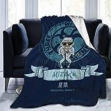 haoqianyanbaihuodian Mizaru See No Evil DREI weise Mönche Fleece-Flanell-Decke Leichte, ultraweiche, warme Bettdecke mit passendem Sofa