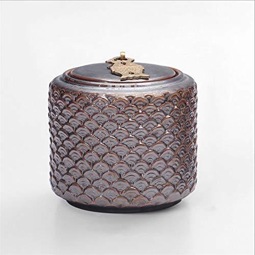 ZXJTX Caja Conmemorativa para Cenizas Jarrón de Altar de cerámica Retro Sellado de urnas de Perro Medio y Grande Urna de cremación