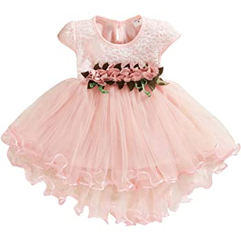 Toddler Baby Kids Girls Flowers Floral Tulle Ruched Princess Dresses Clothes