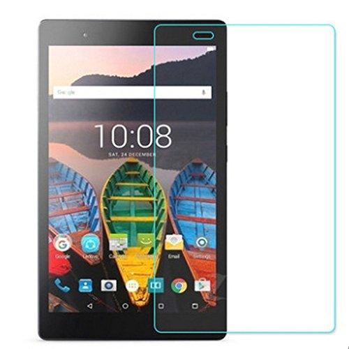 Lobwerk 2X Schutzfolie für Lenovo Tab3 8 Plus TB-8703 mit 8 Zoll Bildschirmschutz Folie klar blasenfrei Anti-Fingerprint 2 in 1