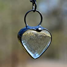 Jewellery gift pendant necklace delicate pendant handmade unique gift smoke pendant resin jewellery gift for her necklace for her