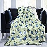 Moily Fayshow Retro Uova di Pasqua Blu Coperta di Pile Coperta di Flanella Trapunta per Camera da Letto Decorazioni per la Camera da Letto 50 'X40'