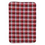 Almohadilla de cama absorbente, almohadilla de orina de terciopelo blanco suave de 3 colores, protección de 5 capas, almohadilla de orina impermeable y transpirable de absorción rápida(rojo)