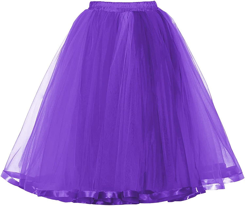 MisShow Womens Rainbow Tutu Skirt Layered Tulle Skirt Girls Colorful Halloween Costumes Tutu