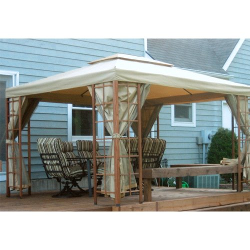 Garden Winds 12 x 10 Wooden Cabin House Gazebo Replacement Canopy Top Cover
