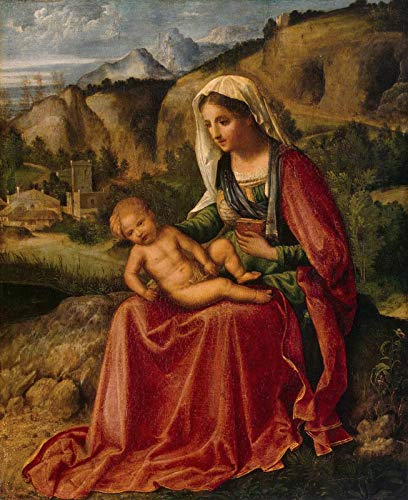 "Giorgione Virgin and Child in a Landscape 1503 The State Hermitage Museum - St Petersburg 30"" x 24"" Fine Art Giclee Canvas Print (Unframed) Reproduction"