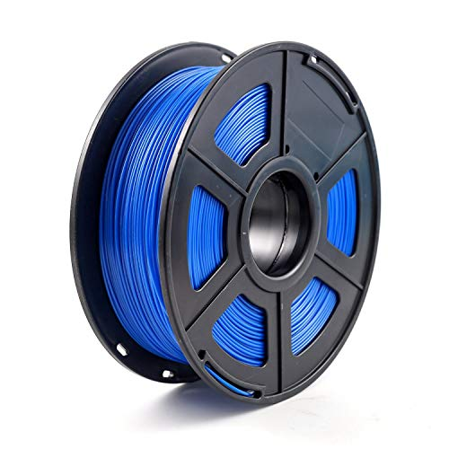 Heritan - Filamento PETG, 1,75 mm, con rotolo da 1 kg, precisione dimensionale +/- 0,02 mm, per la maggior parte delle stampanti 3D FDM, colore: Blu