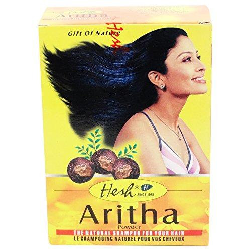 Hesh– Puder Reetha Aritha, hautfreundliche Reinigung für fettige Haut und Haare –mildert Unvollkommenheiten der Haut
