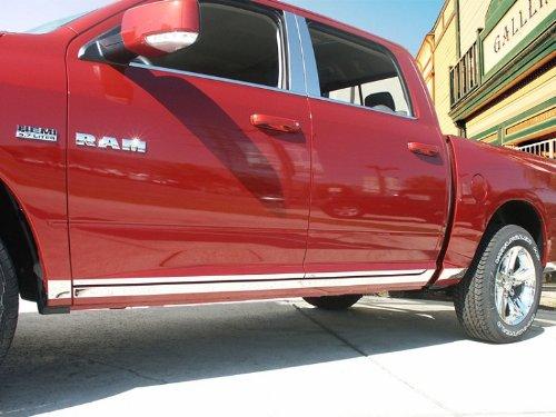 "Made in USA! Works with 2009-2018 Dodge Ram Regular Cab Short Bed Lower Rocker Panel Trim Body Side Moulding 3 1/8"" Wide 12PC"