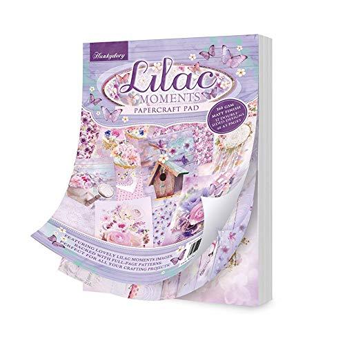 Hunkydory Lilac 103 Bastelblock, 48 doppelseitige A5-Blätter, Lila