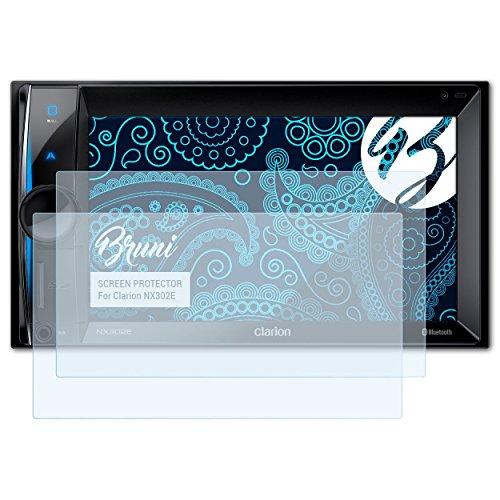 Bruni Schutzfolie kompatibel mit Clarion NX302E Folie, glasklare Displayschutzfolie (2X)