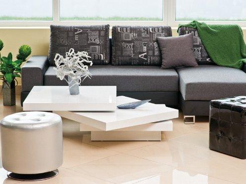 Jadella Design Tavolino Trista Bianco Lucido Estensibile