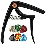 LEKATO Guitar Capo with 3 Guitar Picks for for Acoustic and Electric Guitar,Ukulele Capo
