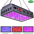 MAXSISUN 1200W LED Grow Light, Full Spectrum LED Grow Lights for Indoor Plants Veg and Bloom, Plant Growing Lamps to Cover a 2.5x2.5ft Flowering Space (120pcs 10W Double Chips)