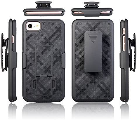 iPhone SE 2nd Gen (2020), iPhone 8 iPhone 7 Case Cover with Swivel Locking Belt Clip Holster [Kickstand Feature] Microseven Compatible with iPhone SE 2nd Gen (2020), iPhone 7 8 4.7 inch (Wave Holster)