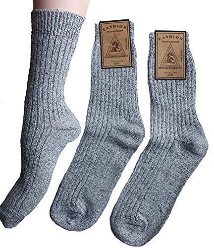 Americo R. Herren Socken Norweger Standard 3er Pack Graumeliert 47/50