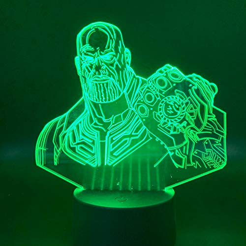 Luce Notturna a LED Thanos Light per Camera dei Bambini Luce Notturna Regalo per Bambini Modern Thanos Cambia Colore 3D Lampada Notturna