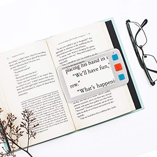 S SMAUTOP Lupa de Lectura Digital 5 Pulgadas 4-32X Zoom Lupa de Mano Portátil para Lectura con Luz, Función de Cámara, Salida de TV, Asa, Cordón de Muñeca para Ancianos, Deficientes Visuales ✅