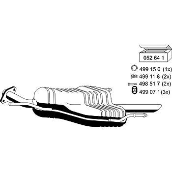 Auspuff Endschalldämpfer Auspuffanlage Endtopf NEU ERNST 650045
