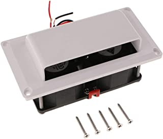 Perfk Inner Side Exhaust Fan Vent 12V for Caravan Camper Trailer RV Parts Accessories - White