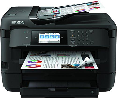 Epson WorkForce WF-7720DTWF, Stampante Multifunzione 4-in-1, A3 Fronte Retro, Connettività Wi-fi e NFC, Touch Screen da 10.9 cm, 18 Pagine al Minuto, Doppio Vassoio Carta