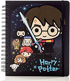 Conquest Journals Limited Edition Harry Potter Charms 2020 Weekly Planner, Weekly Vertical Format, Wrapped Book Board Cover, Spiral Bound, 4 Sticker Sheets, Elastic Strap, Bookmark, 7.5