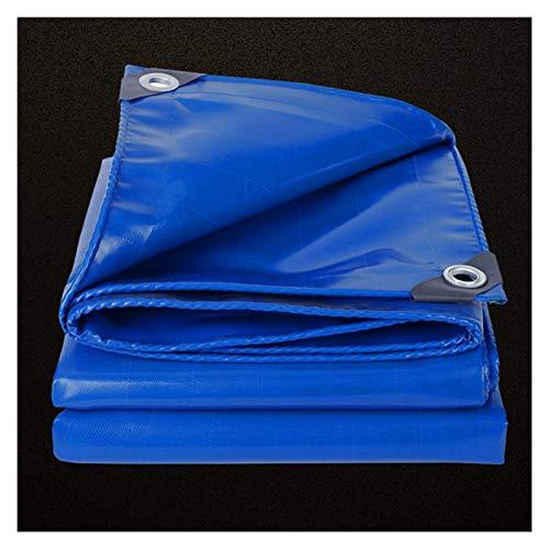 GAOYUY Lona Resistente, Funda Impermeable Azul para Coche Vela Impermeable con Toldo para Camión con Ojales Y Bordes Reforzados Triciclo De Camión (Color : Blue, Size : 2.8X2.8M)