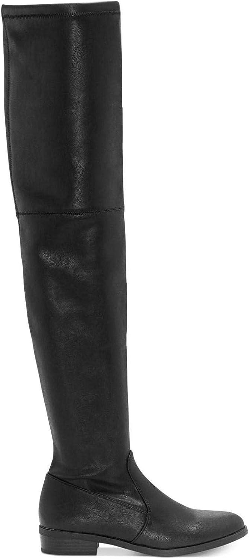 INC International Concepts Womens Irinaa Closed Toe Over Knee, Black, Size 7.0