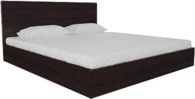 GODREJ INTERIO Maze Queen Engineered Wood Bed With Storage -(Matte_Cinamon)