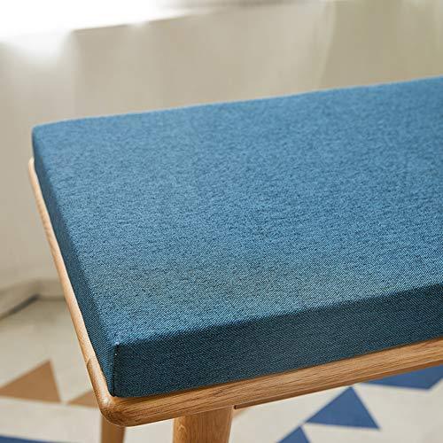 BoruisX Coussin pour banc de jardin 2 ou 3 places pour mobilier intérieur et extérieur, siège profond, coussins de patio, banc de rangement, coussin épais 4 cm (120 x 30 cm, bleu marine)