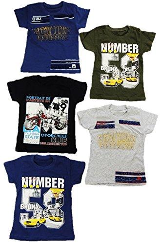 5er Pack Moderne Jungen T Shirts Größe 92-164 (152-164)