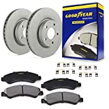 Goodyear Brakes PRK54742R, Rear Truck & SUV Brake Bundle with Pair (2) of AntiOx Coated Brake Rotors and Carbon-Ceramic Brake Pads