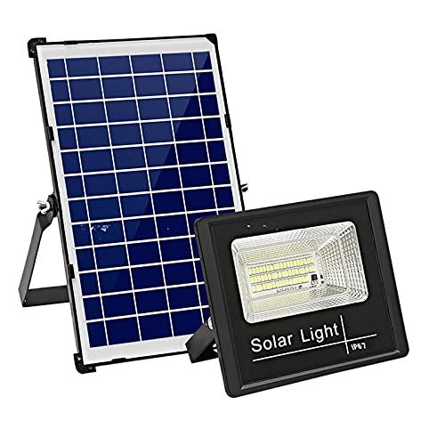 WKZ Faro Pannello Solare 300w 400W 600W 800W 1000W 1200W 1500W, Faretto Solare LED con Display di Ricarica+Telecomando+Filo di Rame da Cinque Metri,luci Solari Giardino(Size:300W)