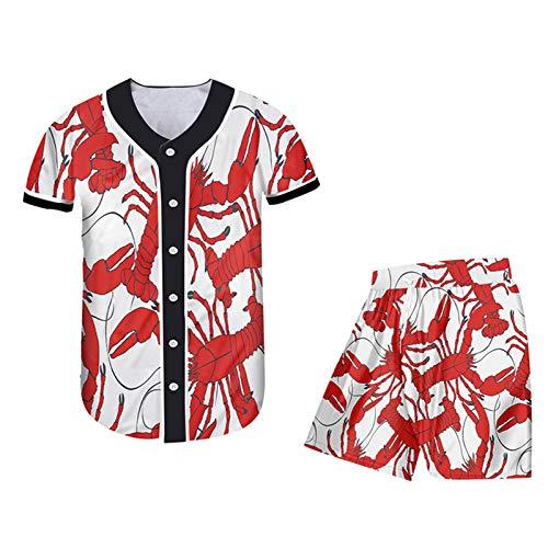 Kuekjcnmx 3D Tshirt Shorts Set Women 3D Imprimir Divertido Plus Tize Traje Hombre Summer Tops Pantalones Cortos BJSH02429 M