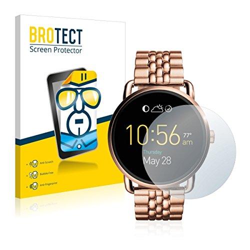 2X BROTECT HD Clear Bildschirmschutz Schutzfolie für Fossil Q Wander (kristallklar, extrem Kratzfest, schmutzabweisend)