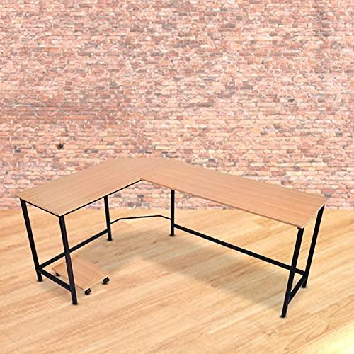 Uxsiya Escritorio de ordenador fácil de instalar para sala de estar, estudio, mesa de esquina Corn