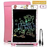 WOBEECO Tableta de Escritura LCD 10 Pulgadas Recargable| Tablet para niños | Ideal como Pizarra Digital para Aprender a Leer y Escribir | Juguete Educativo (Rosa)