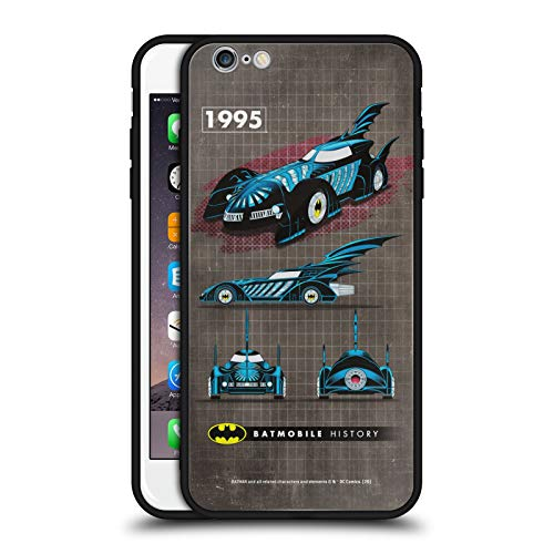 Head Case Designs Ufficiale Batman DC Comics Film 1995 Storia della Batmobile Cover Nera Ibrida in Vetro per Parte Posteriore Compatibile con Apple iPhone 6 Plus/iPhone 6s Plus