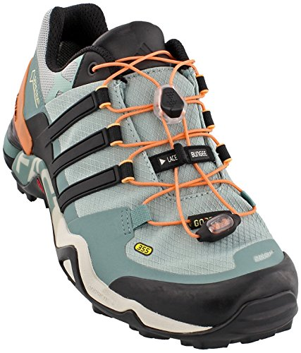 adidas outdoor Women's Terrex Fast R GTX Tactile Green/Black/Vapour Steel Athletic Shoe