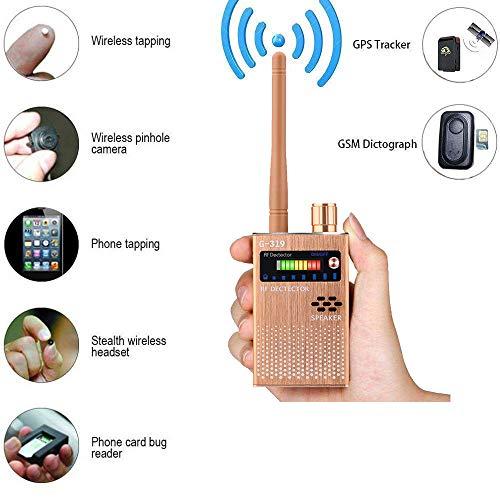 Detector de Señal Anti-Espía Detector de señal GPS Detector de Señal Espía Detector de Cámara Inalámbrica Detector de RF Buscador de Dispositivos gsm (Yellow)