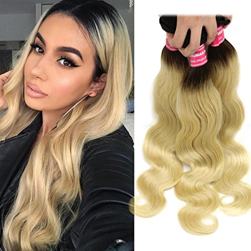 Top human hair bundles ombre blonde for 2020