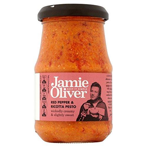 Jamie Oliver Red Pepper & Ricotta Pesto (190g) - Paquet de 2