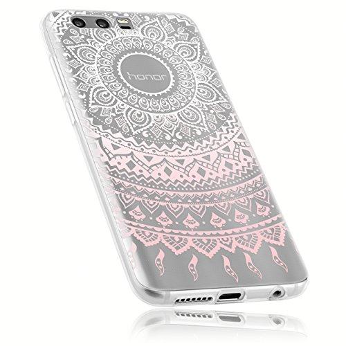 Preisvergleich Produktbild mumbi Hülle kompatibel mit Honor 9 Handy Case Handyhülle dünn mit Motiv Mandala rosa,  transparent