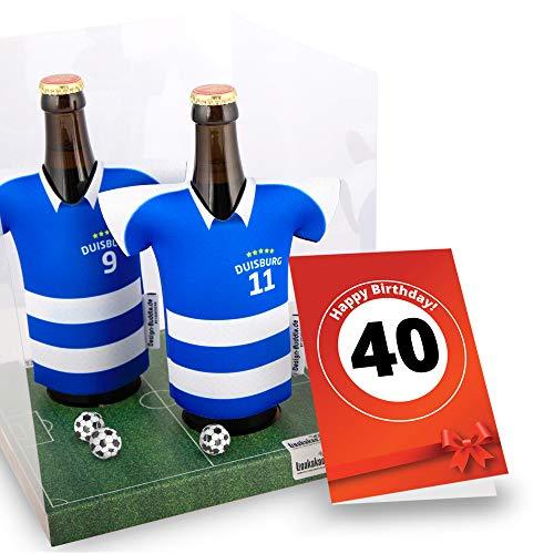 40. Geburtstag | Der Trikotkühler | Das Männergeschenk für Duisburg-Fans | Langlebige Geschenkidee Ehe-Mann Freund Vater Geburtstag | Bier-Flaschenkühler by Ligakakao