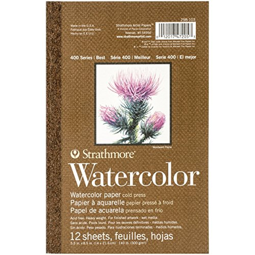 Strathmore (298-103 400 Series Watercolor Pad, 5.5'x8.5', 12 Sheets