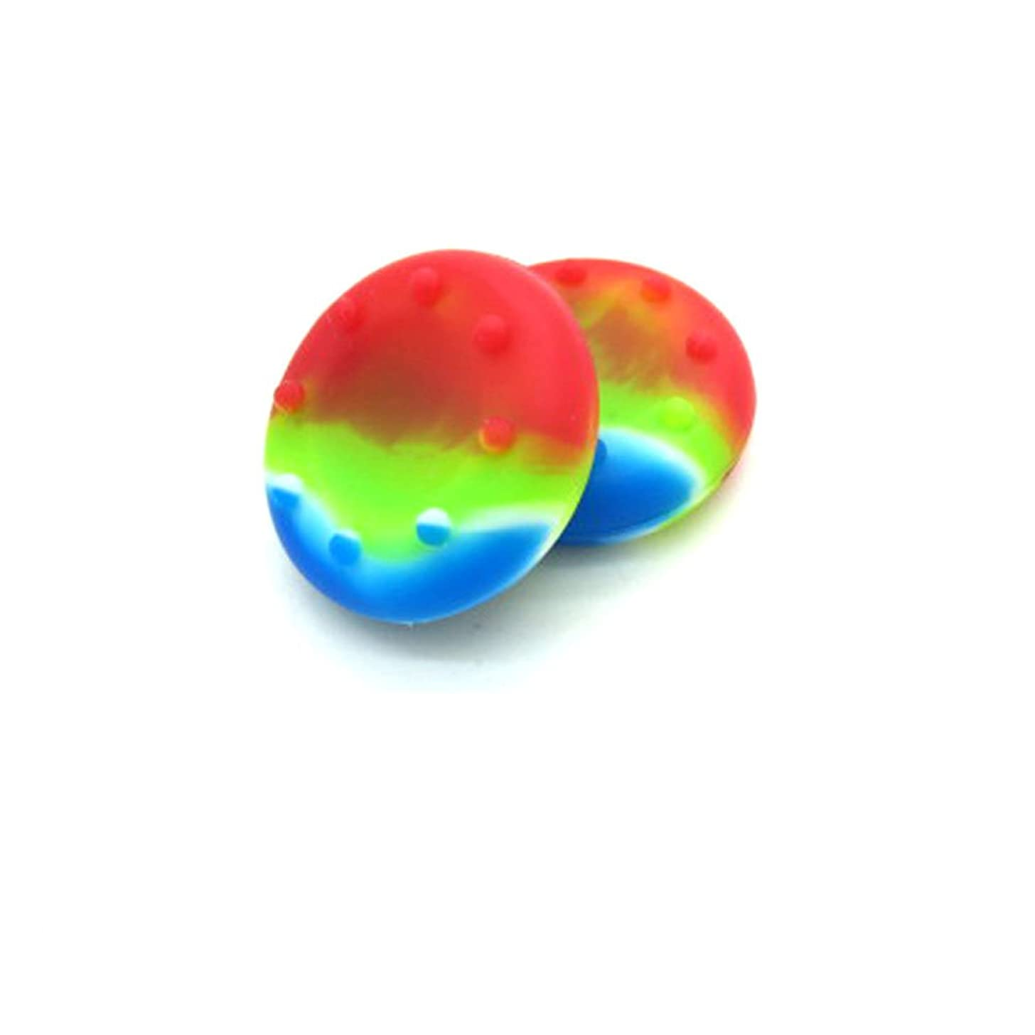 2 x Rainbow Controller Analog Thumbstick Grip Cover Caps For Sony PS3 PS4 XBOX ONE 360 Wii U